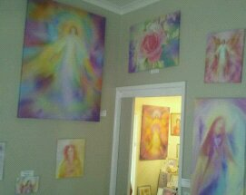 Angel paintings by Glenyss Bourne