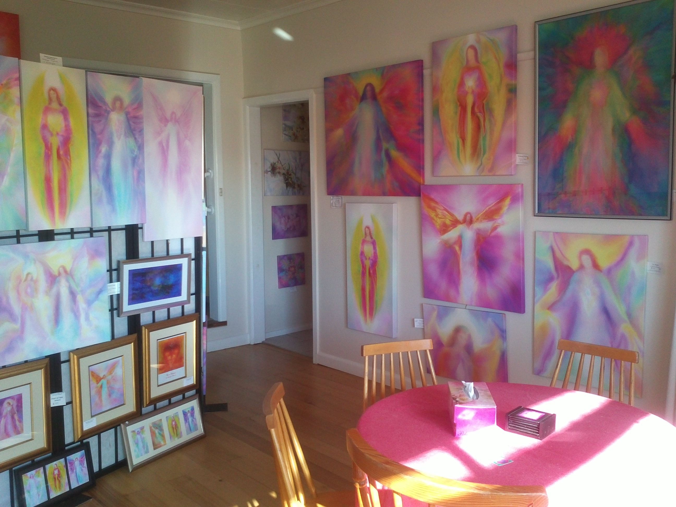 Angel Paintings by Glenyss Bourne at Sanctuary Angel Gallery