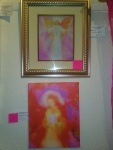 Archangel Sandalphon and The Divine Mother of Compassion paintings by Glenyss Bourne