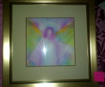 Archangel Gabriel painting by Glenyss Bourne